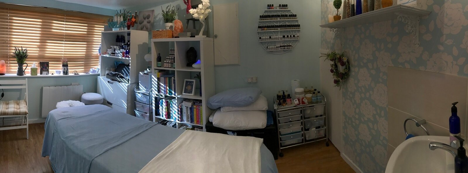 ontarget massage therapy room